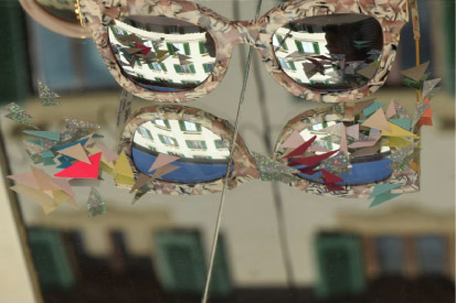 Glasses mirror